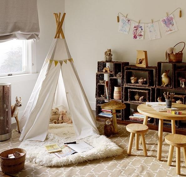 Обустройство детской комнаты в индейском стиле