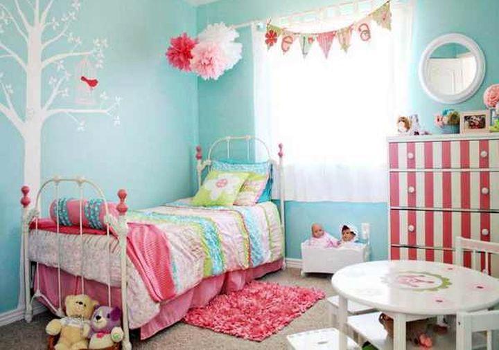 Интерьер детской комнаты в мятном цвете